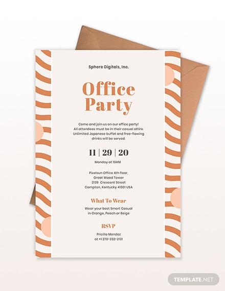 Sample Office Party Invitation