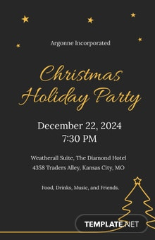 Free Christmas Holiday Party Poster Template