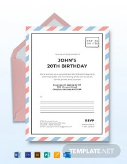 Postcard Invitation Template