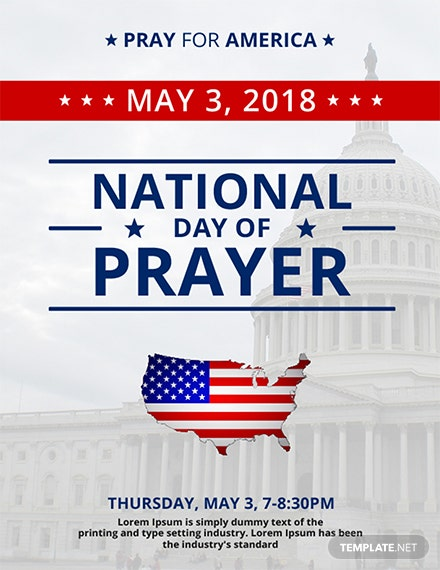 free national day of prayer flyer template  download 882