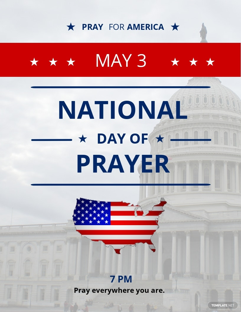 National Day of Prayer Flyer Template
