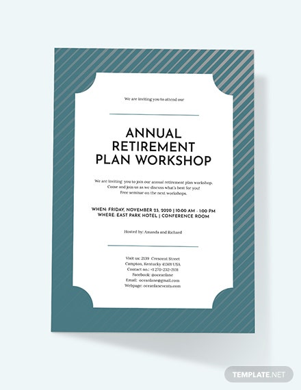 Retirement Invitation Download
