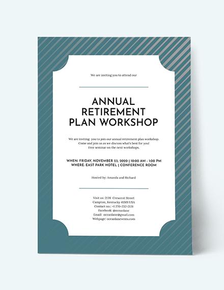 Sample Retirement Invitation
