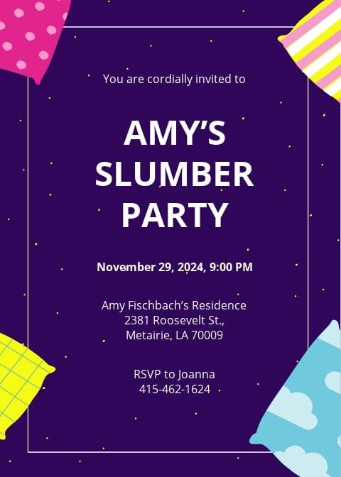 Slumber Party Invitation Template.jpe