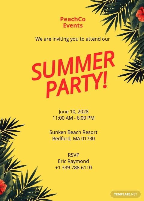 Summer Party Invitation Template.jpe