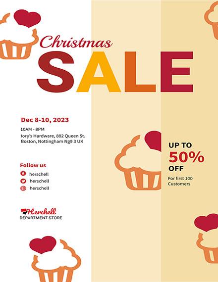 Free Christmas Bake Sale Flyer Template