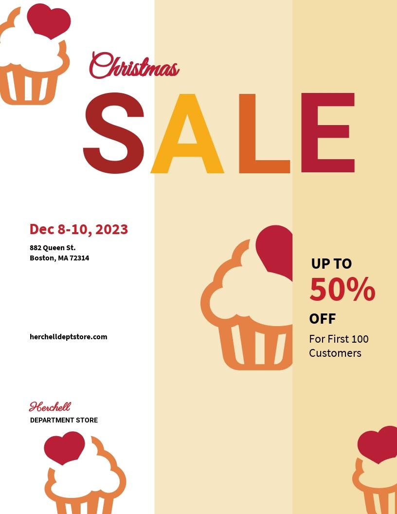 Christmas Bake Sale Flyer Template.jpe