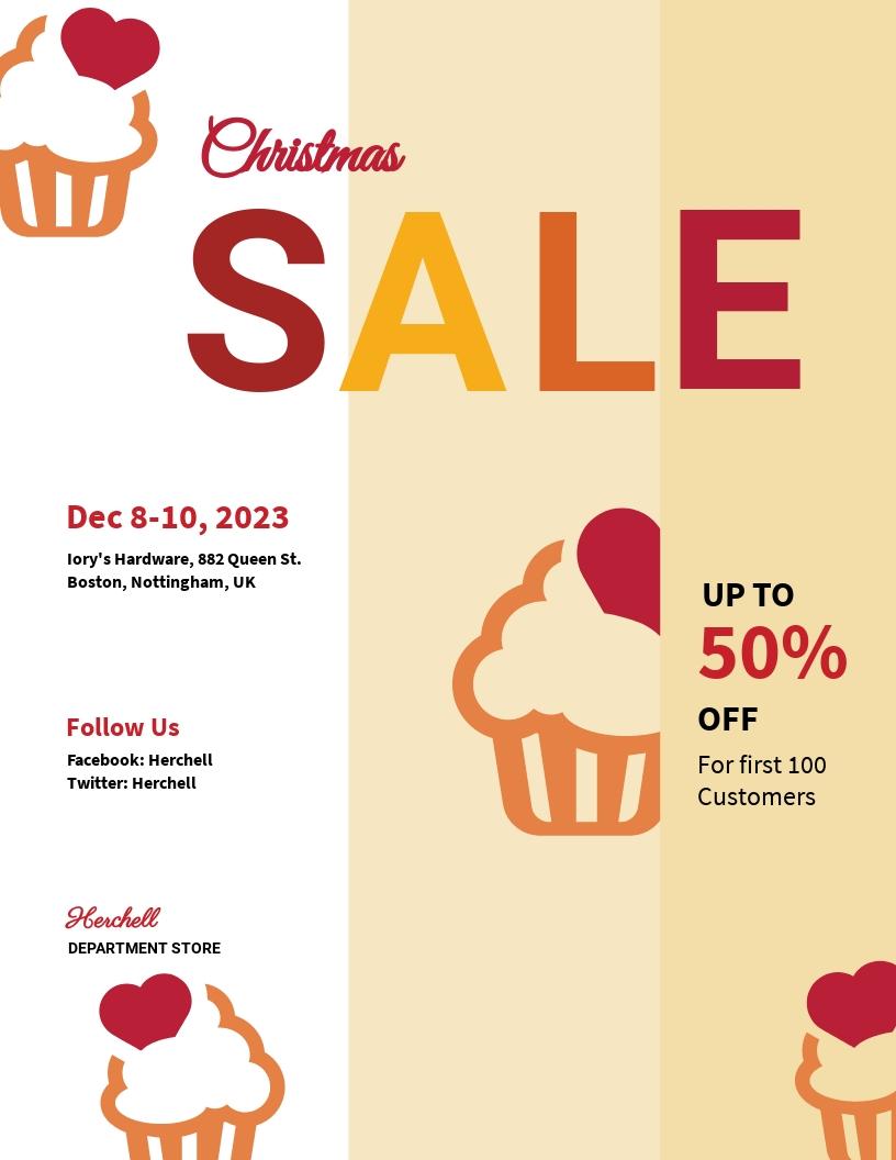 Christmas Bake Sale Flyer Template
