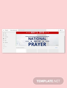 Free National Day of Prayer Google Plus Cover Template