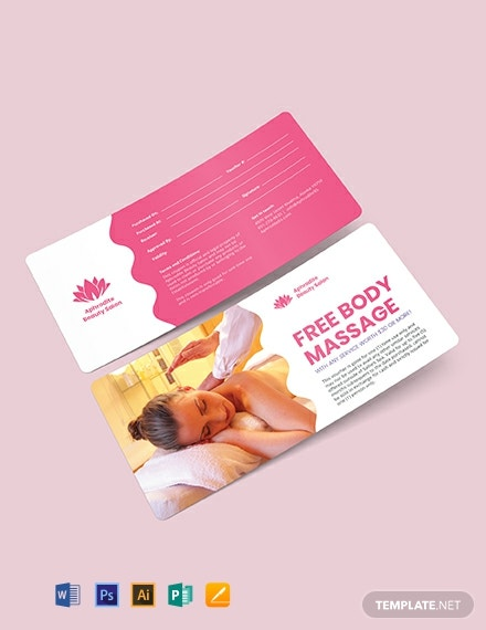 Beauty Massage Voucher Template