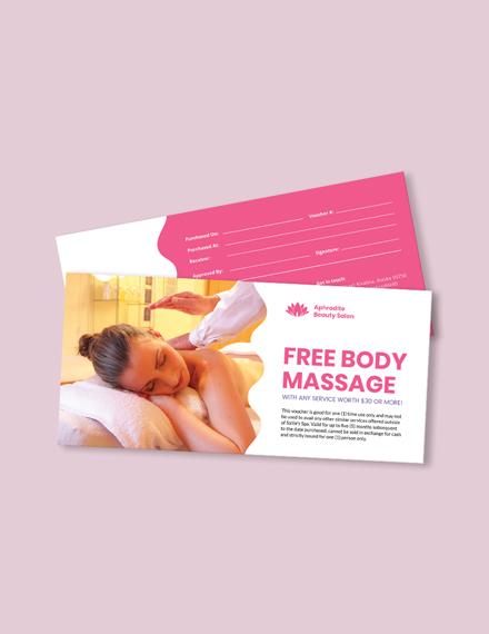 Beauty Massage Voucher Template
