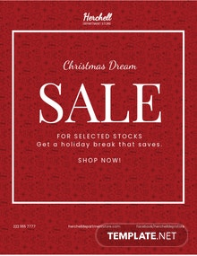 Free Christmas Dreams Sale Flyer Template