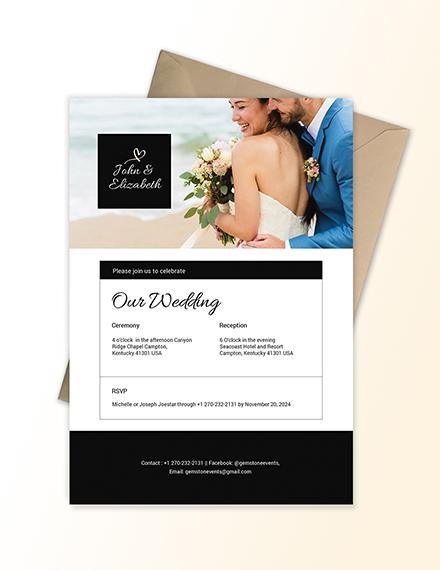Sample Wedding Invitation Email