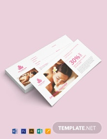 Beauty Spa Voucher Template