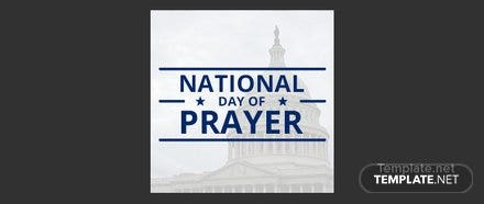 Free National Day of Prayer Google Plus Header Photo Template