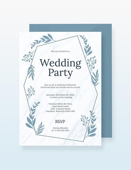 Sample Wedding Party Invitation