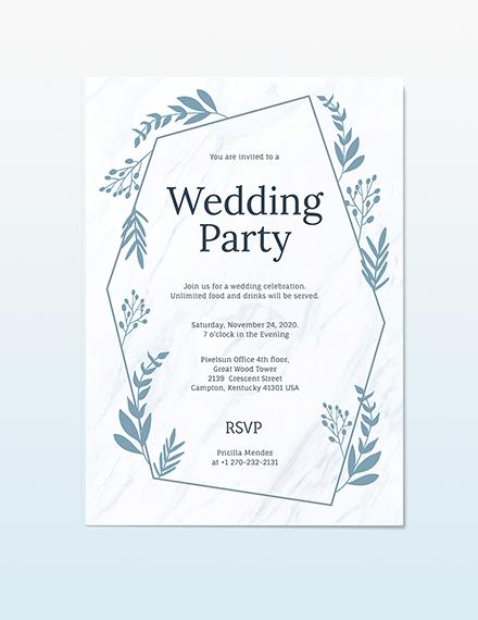 Wedding Party Invitation Download