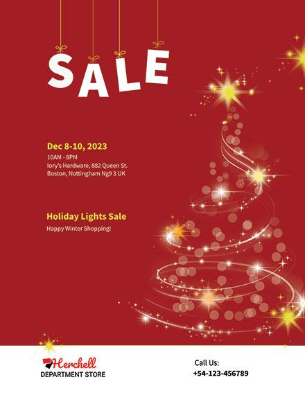 Free Christmas Lights Sale Flyer Template