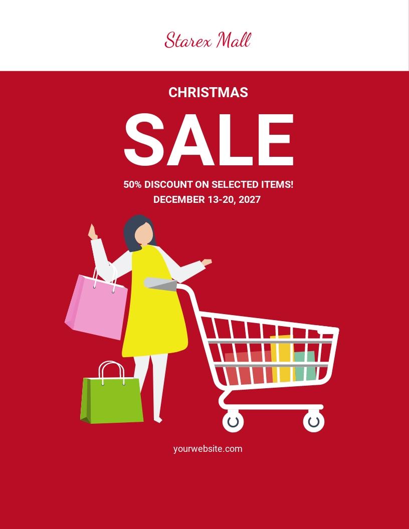 Christmas Sale Flyer Template.jpe