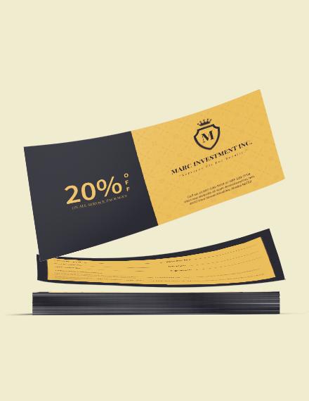 Sample Business Discount Coupon