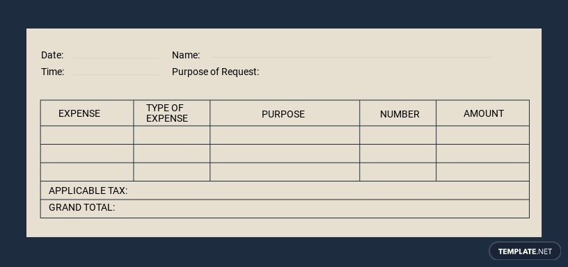 Daily Expense Voucher Template [Free JPG] - Illustrator, Word, Apple Pages, PSD, Publisher