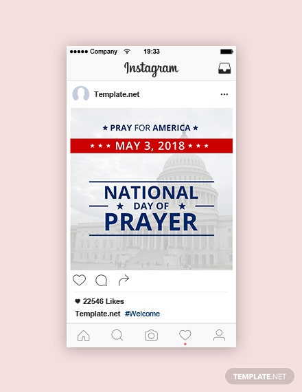 Free National Day of Prayer Instagram Post Template