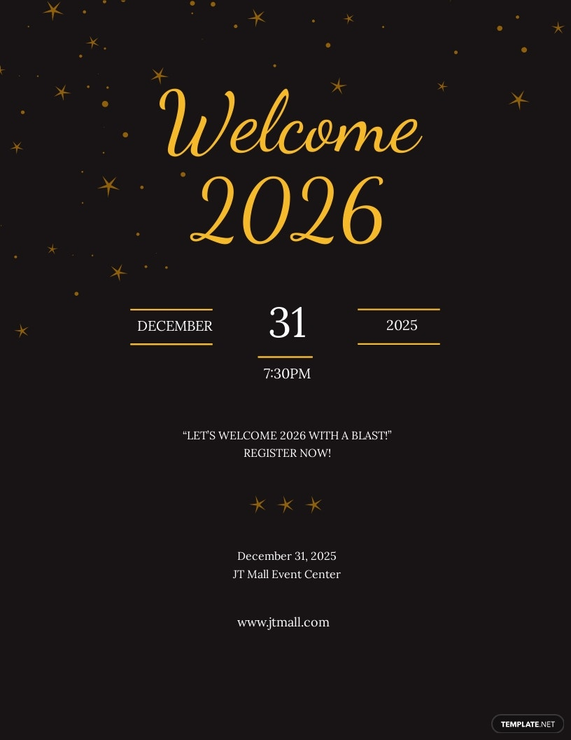 New year Holiday Party Flyer Template.jpe