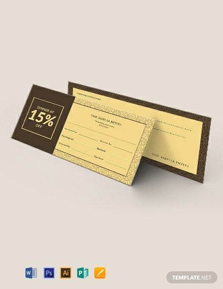 Discount Ticket Voucher Template