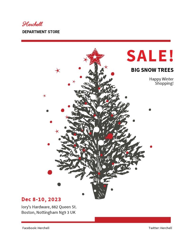Free Snow Trees Sale Flyer Template.jpe