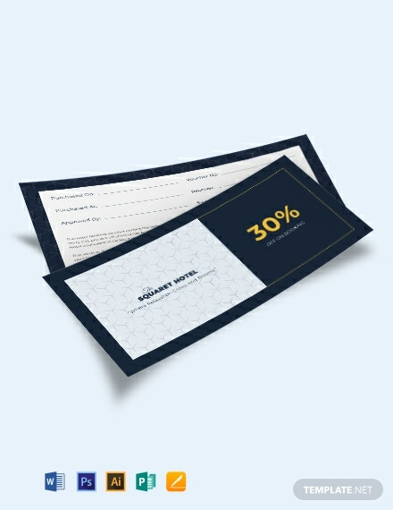 Hotel Booking Voucher Template