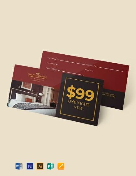Hotel Gift Voucher Template