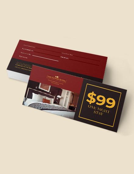 Sample Hotel Gift Voucher