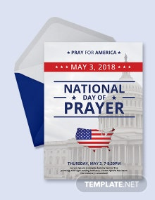 Free National Day of Prayer Invitation Template