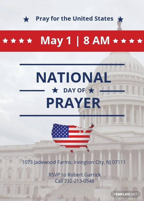 National Day of Prayer Invitation Template