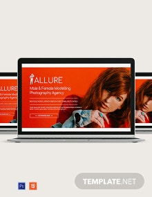 Model Agency Website Header Template