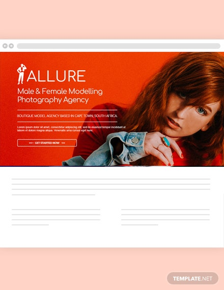Model Agency Website Header Template