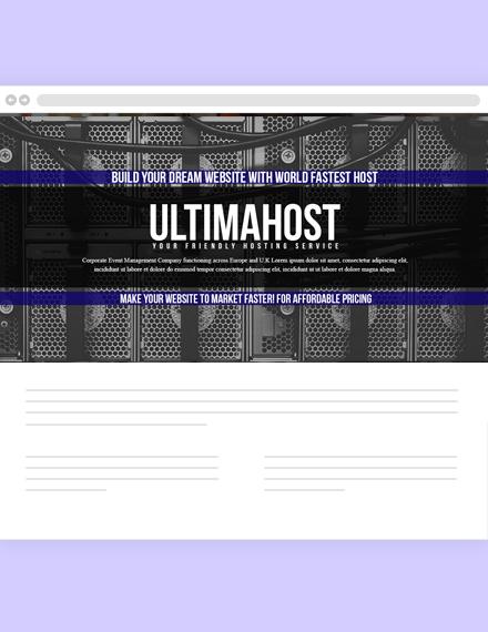 Hosting Website Header Template