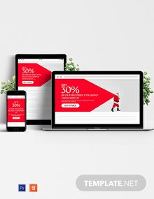 Christmas Offer Website Header Template