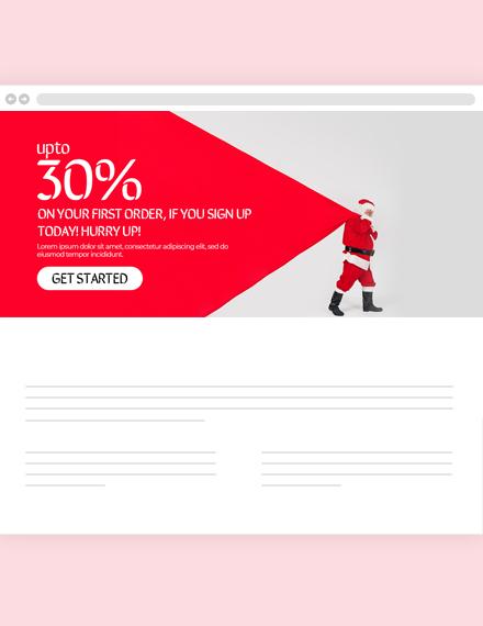 Christmas Offer Website Header Template