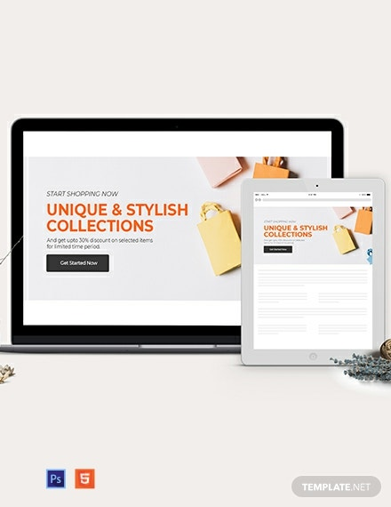 Online Shopping Website Header Template