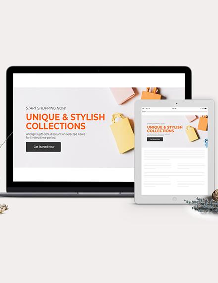 Online Shopping Website Header Template