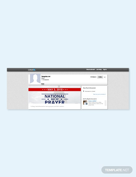 Free National Day of Prayer LinkedIn Blog Post Template