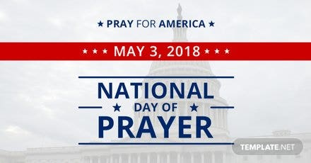 Free National Day of Prayer LinkedIn Blog Post Template