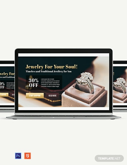 Jewelry Website Header Template