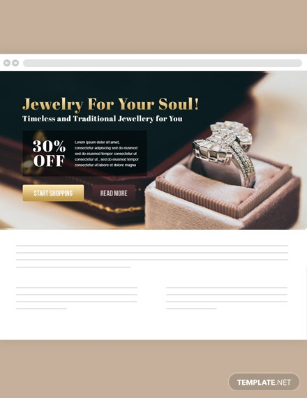 Jewelry Website Header Template