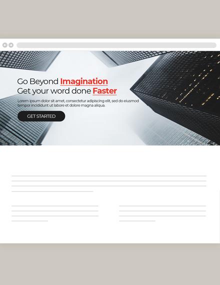 Construction Website Header Template