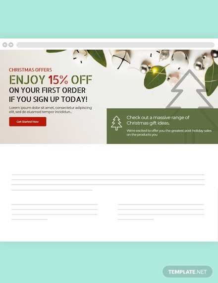 Free Christmas Website Header Template In Adobe Photoshop Html