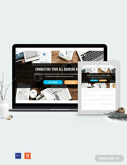 Banking Website Header Template