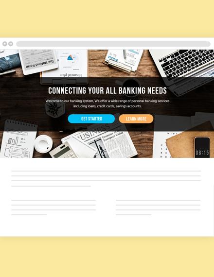 Banking Website Header Template