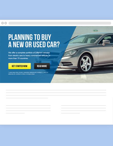 Free Automobile Website Header Template